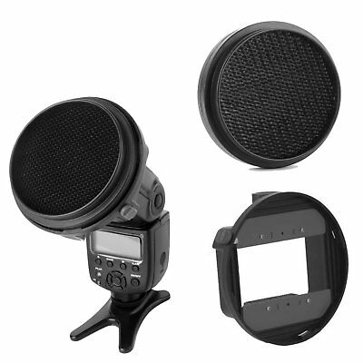HoneyComb Grid Universal Flash Adapter Mount CA-SGU K9 for Canon Nikon Speedlite