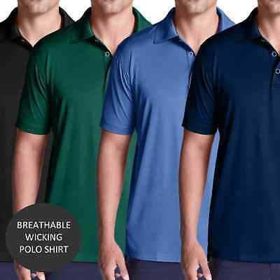 Mens Polo Shirt Breathable Wickable Sports Workwear Catering Industry Running