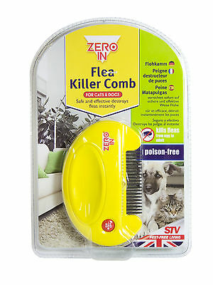 Zero In Electric Pet Flea Killer Comb SAFE NO CHEMICALS DOG & CAT