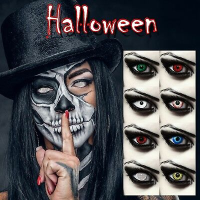 Scary colored contact lenses for Halloween red vampire white zombie lenses