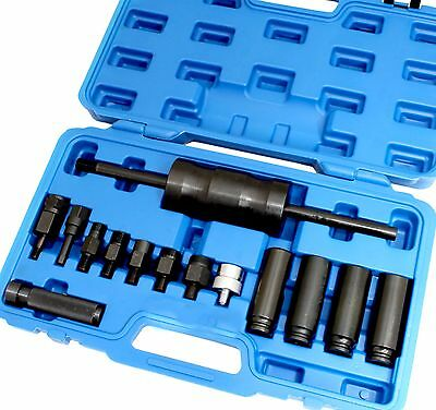 14pc Injector Puller Extractor Kit Diesel Common Rail Bosch Delphi Siemens Denso