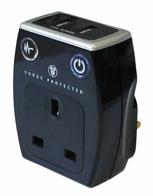 Masterplug Plug in Charger with USB Charge Sockets With Surge Protection