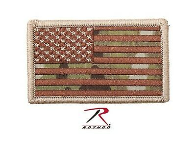 Army Marines Military Paintball Patch Arm American USA Flag Hook Loop MultiCam