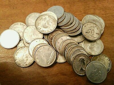 50 80% Silver Canadian Dimes Coins - $5 Face Value roll