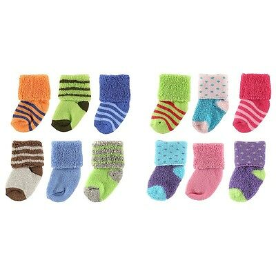 Luvable Friends 6-Pack Newborn Socks In Washbag 0-3 Months