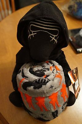 NEW Star Wars: Episode VII Kylo Ren Character Plush Hugger and Throw Blanket Set