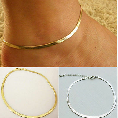 Lady Girl Trendy Jewelry Herringbone Adjustable Ankle Bracelet Chain Anklet New