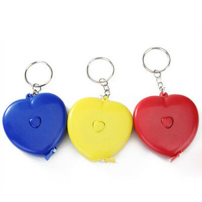 """1pc Heart Retractable Tape Measure Sewing Tailor Ruler 150cm 60"""" Key Ring"""