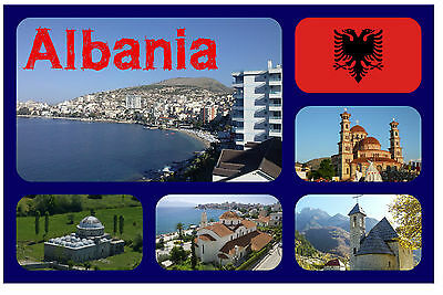Albania - Souvenir Novelty Fridge Magnet - Brand New - Gift / Xmas