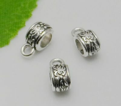 Free 100Pcs Tibetan Silver Spacer Bail Beads Charms For Jewelry Making 8x7x5mm
