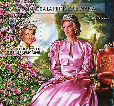 Central African Republic 2015 MNH Princess Diana Tribute 1v S/S Royalty
