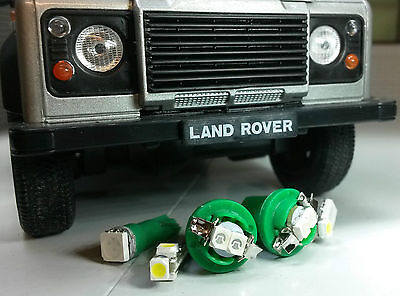Bright Green SMD LED Dash Instrument Speedo Land Rover Defender 90/110 TD5 kit