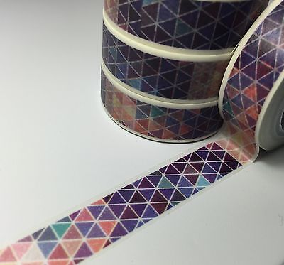 Washi Tape Bruised Triangles 15Mm Wide X 10Mtr Roll Scrap Plan Craft Wrap