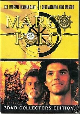 MARCO POLO - Burt Lancaster, Anne Bancroft -  3 DVD 450 min BOX SET NEW