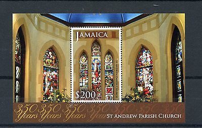 Jamaica 2014 MNH St Andrew Parish Church 350 Years 1v S/S Stained Glass