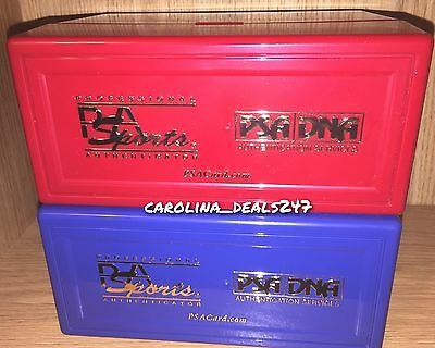 NEW PSA Sports Red + Blue Plastic Display Storage Case Box LOT For Graded Card