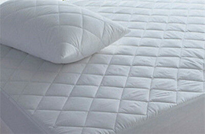 CLEARANCE  Waterproof Quilted 100% Cotton Cover Fully Fitted Mattress Protector