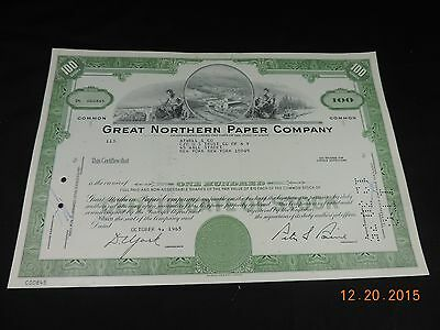 Great Northern Paper Company Stock Certificate