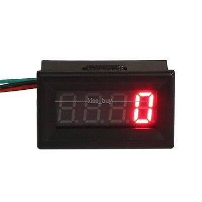 Digital RED LED Tachometer RPM Speed Measure Gauge Meter Tester 60-9999 12v 24v
