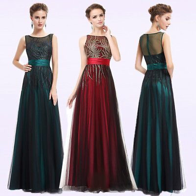 Ever Pretty Womens Long Bridesmaid Dress Evening Party Formal Prom Gown 08740