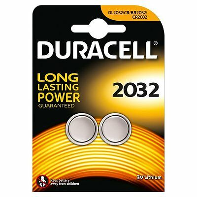 2 X Duracell CR2032 2032 3V Lithium Coin Cell Batteries DL2032 TWIN PACK