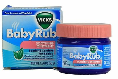 Vicks Babyrub Soothing Ointment Comfort For Babies 1.76 OZ