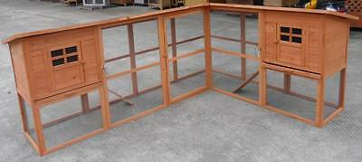 "Huge 98"" Corner Solid Wood Hen House Chicken Coop Cage Large Duck poultry Hutch"