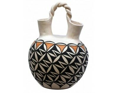N. Mansfield, Acoma, Hand Coiled Pottery, 12 3/4'' x 9''