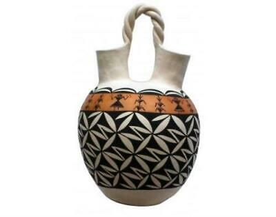 N. Mansfield, Acoma, Hand Coiled Pottery, 18'' X 12''