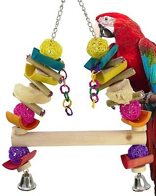 1025 Huge Java Swing Parrot Bird Cage Toys Cages Toy Chew Foraging Amazon Macaw
