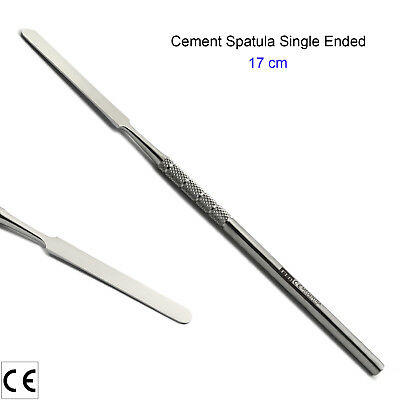 Laboratory Single Ended Mixing Cement Spatula Lab Technician Rigid Long Blade