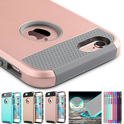 Hybrid Rugged Rubber Protective Hard Cover Case Shell for Apple iPhone 6s 6 Plus