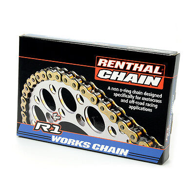 Renthal NEW Mx R1 420 Motorcycle Dirt Bike Motocross Gold 126 Link Works Chain