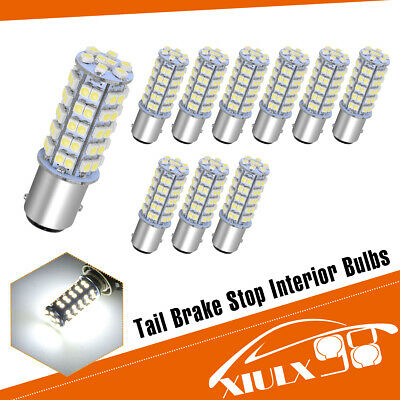 10x Super Bright White BAY15D 1157 68 SMD LED Car Tail Brake Stop Light Bulb 12V