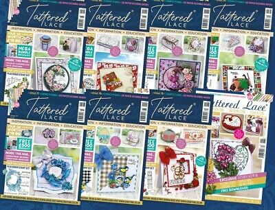 BRAND NEW Tattered Lace Magazines - ALL ISSUES 1-65  With FREE DIES & FREE P&P!