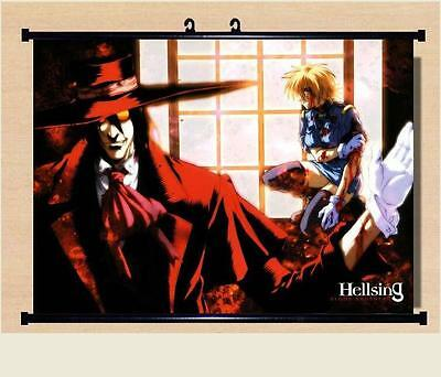 Japanese Anime Home Decor  Wall poster Scroll Hellsing Alucard Cosplay 60*45 A90