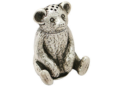 Antique Edwardian Sterling Silver 'Bear' Pepperette