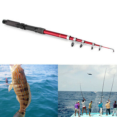 Portable Fishing Pole Tackle Carbon Fiber Spinning Lure Rod 2.1/2.4/2.7/3.0m SY