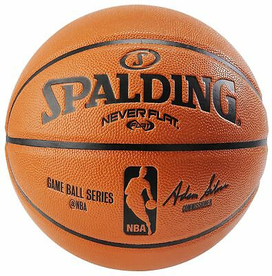 "Spalding NBA Never Flat Replica Game Ball Official Size 7 (29.5"")"