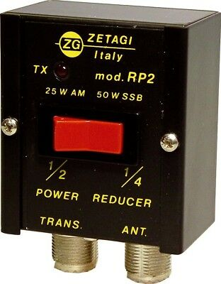 Zetagi RP2 50/25% Power Reducer Attenuator CB/HAM Radio