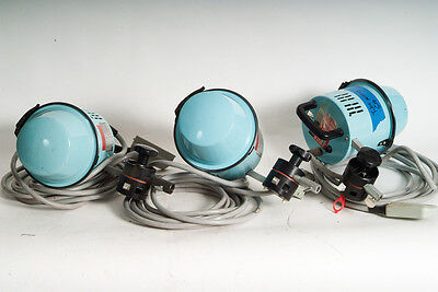 3x broncolor Standard heads.  2 sets of tubes.  working.  800ws