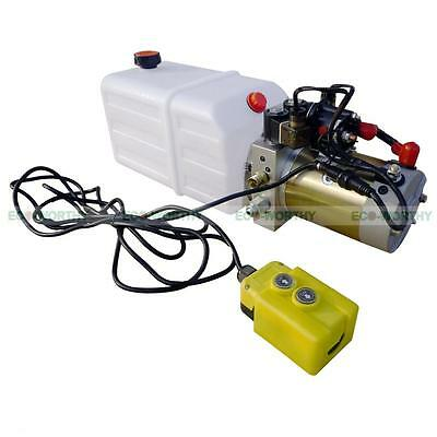 Brand New Double Acting Hydraulic Pump 12V Dump Trailer - 6 Quart 3200 PSI Max.