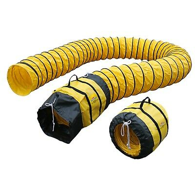 "XPOWER 16DH25 Flexible 16"" Diameter 25 Feet Ventilation Duct PVC Ducting Hose"