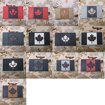 Canada Red Maple punisher flag 3D PVC Patch