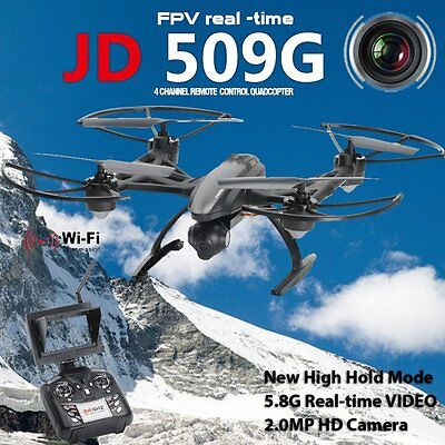 HD 2MP camera JD509 FPV 2.4Ghz 4CH RC 6-Axis Quadcopter Drone with RTF UFO UAV