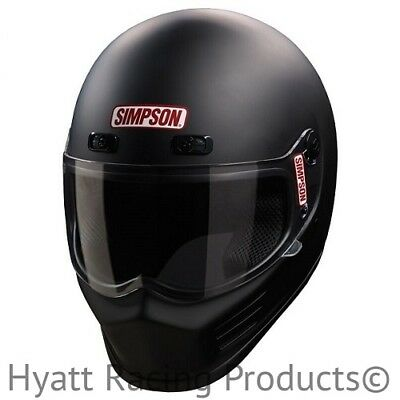 Simpson Street Bandit Motorcycle Helmet M2015 & DOT - All Sizes & Colors