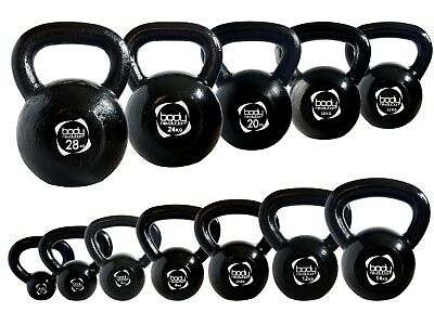 Cast Iron Kettlebell Strength Training Home Gym Fitness Dumbbells Kettlebells