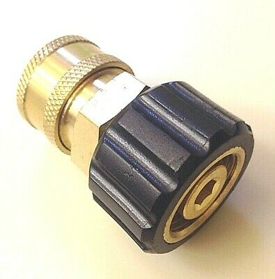 """Pressure Washer Twist Connect M22 X 3/8"""" Quick Disconnect  Coupler 14mm 24.0448"""