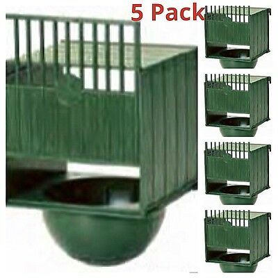 5 x PLASTIC NEST PAN HANGS ON OUTSIDE OF CAGE IDEAL for CANARIES FINCHES BIRDS