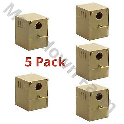 5 pack PLASTIC FINCH NEST BOX WITH HOOKS front and back / Finches